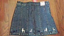 GYMBOREE MY BEST FRIEND Girls Denim Skirt Skort 5 NEW NWT HTF EMBROIDERED DOGS!!