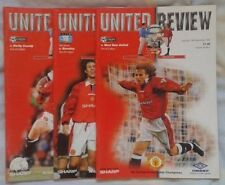 Premiership Home Teams Manchester United Football Programmes