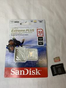 SanDisk Extreme Plus 32 GB MicroSDXC UHS-1 Card with Adapter