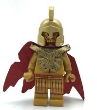 LEGO Atlantis Temple Statue (Poseidon) RARE GOLD MINIFIGURE AUTHENTIC BONUS CAPE