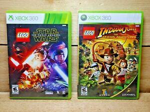 LEGO Star Wars Force Awakens & Indiana Jones Original Adventures Xbox 360 Lot