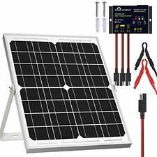 Solperk Solar Panel Kit 20w 12v Solar Battery Trickle Charger Maintainer Up