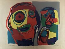 KAREL APPEL, UNTITLED (TWO FIGURES) SIGNED LITHOGRAPH