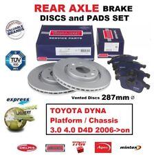 REAR BRAKE PADS + DISCS SET for TOYOTA DYNA Platform/Chassis 3.0 4.0 D4D 2006-on