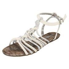 Sandalias y chanclas de mujer planos blancos, talla 40
