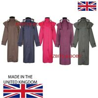Womens Ladies Waterproof Long Full Length Riding Cape Rain Coat