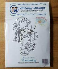 Whimsy Stamps - Elisabeth Bell - Little Jack & Bella Drumming rubber stamp xmas