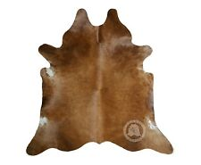 New Brazilian Cowhide Rug Leather BROWN 6'x8' Cow Hide