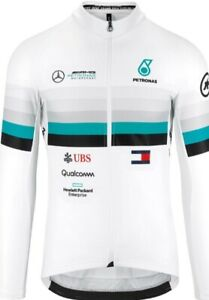 NEW LONG SLEEVE Men's Asos FF1 RS MERC Benz Cycling Jersey Breathable sz 2XL