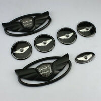 FOR Hyundai Genesis Coupe Black Wing Badge Front +Rear+steering+Hubcaps Emblem