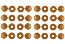 Screw Caps Light Brown Screws Covers With Hinged Lid Plastic Quantity 16