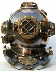 Diving Helmet US Navy Mark V Deep Sea Marine Divers Helmet Antique Scuba Gift