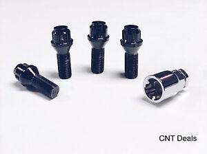 14x1.25 Black Lug Wheel Locks BMW X1 X3 X4 X5 X6 xDrive 328i 340i M3 M4 M5 M6