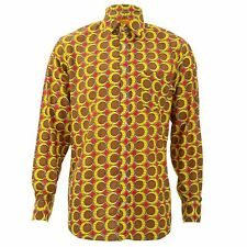 Regular Fit Long Sleeve Shirt Loud Originals Brown Tropical Eggs Psychedelic