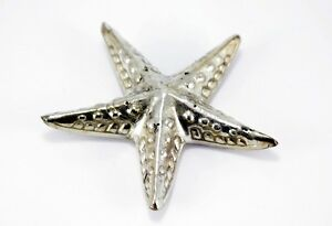 Decorative Figures Starfish Metal Silver Plated Sea Maritime Table