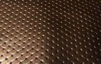 TOP Kunstleder gesteppt & leicht perforiert braun glänzend Meterware152cm breit