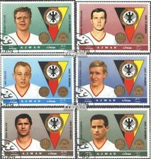 Ajman 362A-367A (complete issue) used 1969 known German footbal