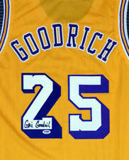 LOS ANGELES LAKERS GAIL GOODRICH AUTOGRAPHED SIGNED YELLOW JERSEY PSA/DNA 141205