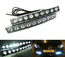 White 9 High Power LED Fog Daytime Running Light DRL Kit Indicator Audi VW Style