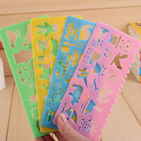 4X Kids Children Scrapbooking Drawing Template Stencils Rulers Painting Tool DIY