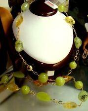 Edelsteine Citrin Jade Peridot Kette 1/20 14 Kt Gold