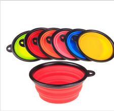 Portable Travel Foldable Pet Dog Bowl for Food & Water Dish Random Color