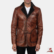New Style Brown Fur Leather Coat Genuine Sheep Skin Jacket