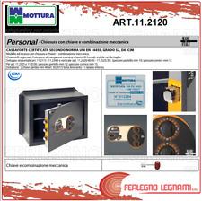 CASSAFORTE VERTICALE PERSONAL CHIAVE E COMBINAZIONE CM.49X41 ART 11.2120 MOTTURA