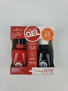 Sally Hansen Miracle Gel Nail Polish Set 2X Volume Top Coat #501 Red Eye New Box