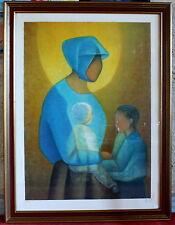 Toffoli litografía mujer niño dulzura maternal nº15/150