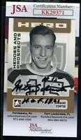 Milt Schmidt JSA Coa Hand Signed 2006 In The Game Autograph