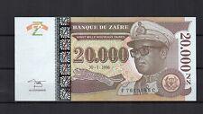 ZAIRE  billet de 20 000 nouveaux Zaires du 30/01/1996 PK N° 72 NEUF HDMZ