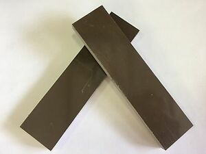 """G10: Earth Brown/White/Black 3/8"""" 6"""" x 1.5"""" Scales for Woodwork, Knife, Bush"""