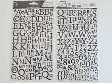 STICKERS Autocollants Alphabet 300 lettres noir pailleté DIY Scrap Artemio