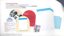 US DISNEY LET'S WRITE A LETTER PACK CONTAINING STATIONERY & STAMPS RARE