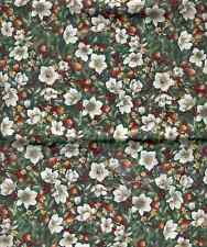 CHRISTMAS FLOWERS BERRIES PODS FABRIC THE CHRISTMAS COLLECTION BY WOODROW STUDIO