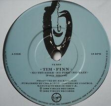 """TIM FINN - No Thunder No Fire No Rain - Excellent Con 7"""" Single Virgin VS 849"""