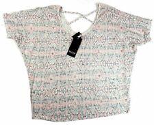 1X Plus Women's Point Zero Curvy Stretch Knit Top Shirt with Criss-cross Straps
