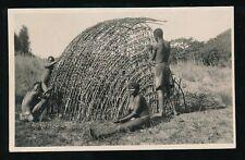 Ethnic Africa native HUT BUILDING c1900/20s? RP PPC