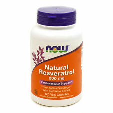 NOW Foods Mega Potency Natural Resveratrol 200 mg - 120 Vegetarian Capsules