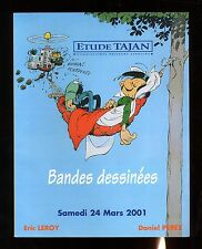 CATALOGUE VENTE BD ENCHERES   TAJAN    24/03/2001  couverture  FRANQUIN GASTON