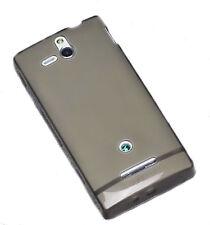 Silicona TPU, móvil cover case funda carcasa tapa en Smoke para Sony Xperia U