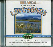 IRELAND'S MOST POPULAR LOVE SONGS CD, ORIGINAL IRISH ARTISTS RECORDED IN IRELAND