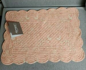 Williamsburg Windsor Quilted Damask Placemats  RARE Set of 4