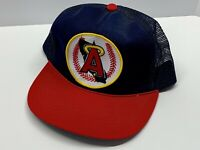 ANGELS Mesh Hat Snapback California Anaheim LA MLB Coca Cola Logo Patch Vintage