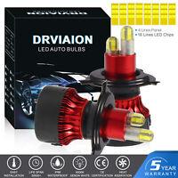 8côtés 200W 30000LM H4 CREE Hi/Lo LED Ampoule Voiture Feux Lampe Kit Phare Xenon
