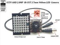 CCTV Invisible 940nm IR 48 PCS LED Lens 3.7mm Pinhole HD-AHD  2.0MP 1080P Camera