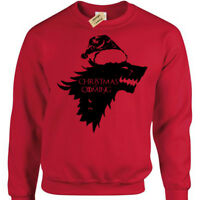 Wolf christmas is coming Jumper Mens funny xmas thrones winter sweatshirt game