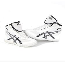 Vintage Asics Split Second V Wrestling Shoes White Black Mens Size 8 Wrestler