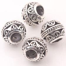 10/20Pcs 10mm Tibetan Silver Round Hollow Loose Spacer Beads DIY Jewelry Making